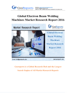 Global Electron Beam Welding Machines Market Research Report 2016