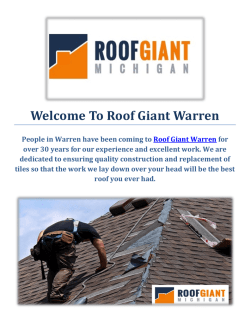 Roof Giant | Roofing Contractors in Warren