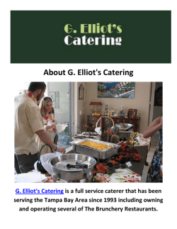 G. Elliot's Event Catering in Tampa, FL