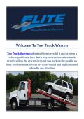 Towing Truck Service in Warren