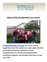 Sally Residential Care Home : Assisted Living in Camarillo, CA