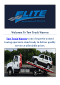 Towing Truck Service in Warren