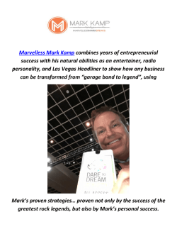 Marvelless Mark Kamp : Keynote Speaker In Miami