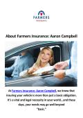 Farmers Insurance: Aaron Campbell Car Insurance in Las Vegas, NV