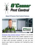 OConnor Pest Control Company in Ventura, CA