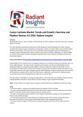 Cancer Cachexia Market Share and Size, Overview and Pipeline Review, H1 2016 by Radiant Insights