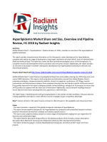 Hyperlipidemia Market Trends, Global Insights, Overview and Pipeline Review, H1 2016: Radiant Insights