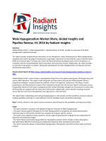 Male Hypogonadism Market Trends and Growth, Overview and Pipeline Review, H1 2016: Radiant Insights