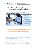 Global Stone Crushing Equipment Market Research Report 2016