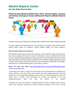 Global Nuclear Medicine Market Size, Growth, Trends, Industry Analysis and Forecast 2020