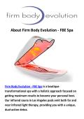 Firm Body Evolution - FBE Spa : Sauna in Los Angeles, CA