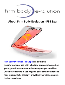 Firm Body Evolution - FBE Spa : Sauna in Los Angeles, CA