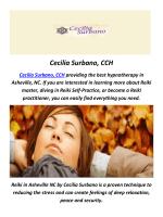 Cecilia Surbano, CCH : Hypnosis In Asheville, NC