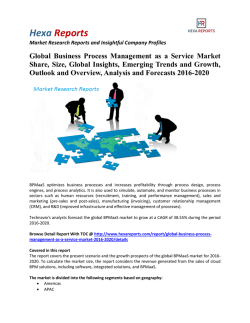 Global Business Process Management as a Service Market Insights, Analysis and Overview 2016-2020 By Hexa Reports