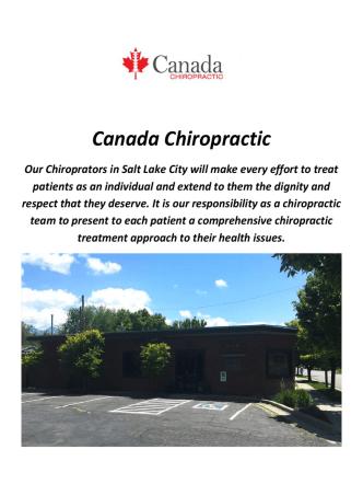 Canada Chiropractors In Salt Lake City
