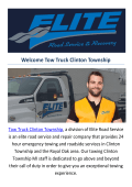 Towing Truck Clinton Township MI