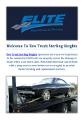 Tow Truck Company in Sterling Heights, Michigan
