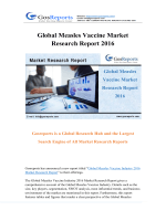 Global Measles Vaccine Market Research Report 2016