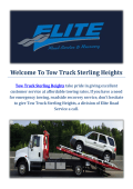 Tow Truck Towing Service in Sterling Heights