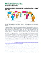 World Self Organizing Network Market - Opportunities and Forecasts, 2014 - 2022