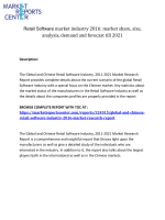 Retail Software market industry 2016