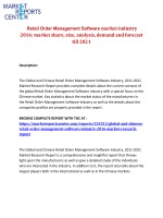 Retail Order Management Software market industry 2016