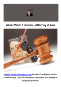 Peter F. Iocona - Attorney at Law : DUI Lawyer Orange County