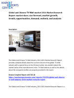 Global and Chinese TV Wall Industry market share, size, trends and forecasts from 2016 to 2021 examined in new market