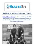 HealthFit Personal Trainer in Pasadena, CA