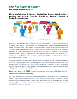 Antimicrobial Packaging Market Growth, Size, Share and Forecast