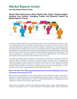 High Performance Alloys - Market Growth, Size, Share and Forecast