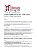 Acute Pain Market Size, Causes, Share, Trends and Pipeline Review, H1 2016
