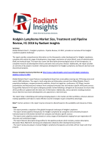 Hodgkin Lymphoma Market Size, Treatment and Pipeline Review, H1 2016 by Radiant Insights