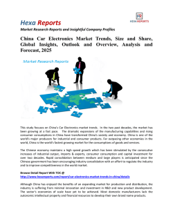 China Car Electronics Market Share, Growth and Forecasts, 2025: Hexa Reports