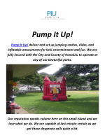 Pump It Up : Party Rentals In Honolulu Hawaii