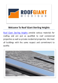 Roof Giant : Roofers in Sterling Heights, MI
