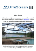 Ultra Screen Enclosures In Florida
