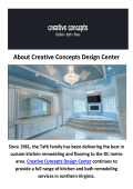 Creative Concepts Design Center - Bathroom Remodeling in Fairfax, VA