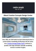 Creative Concepts Design Center - Bathroom Remodeling in Fairfax, VA