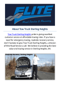 Truck Towing Service in Sterling Heights, MI
