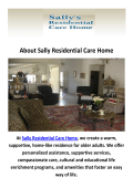 Sally Residential Care Home - Senior Living in Camarillo, CA