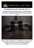 The Zabriskie Law Firm : Dui Lawyer In Salt Lake City