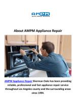 AMPM Appliance Repair in Sherman Oaks, CA