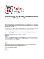 Global Automotive Blind Spot Detection Market Share, Size, Growth & Trends Report To 2020: According To Radiant Insights, Inc