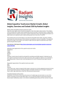 Global Capacitive Touchscreen Market Growth, Competitive Scenario & Forecasts To 2015: Radiant Insights, Inc