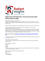 Global Fresh Food Market Trends and Growth, Analysis and Forecasts 2015-2019 by Radiant Insights
