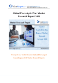 Global Electrolytic Zinc Report-Market Size and Forecast 2020