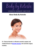 Body By Kotoske - Face Lift in Phoenix, AZ