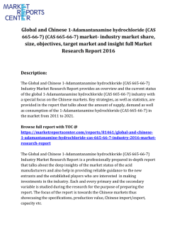 Global and Chinese 1-Adamantanamine hydrochloride (CAS 665-66-7)  market share, size and forecast report
