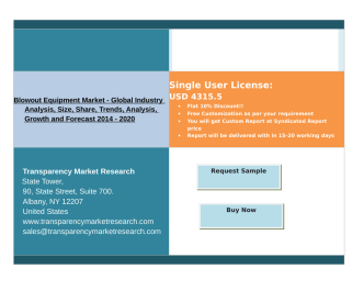 Blowout Equipment Market Global Industry Analysis 2014 - 2020